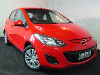 2010 Mazda 2 DE10Y1 Neo Red 4 Speed Automatic Hatchback.