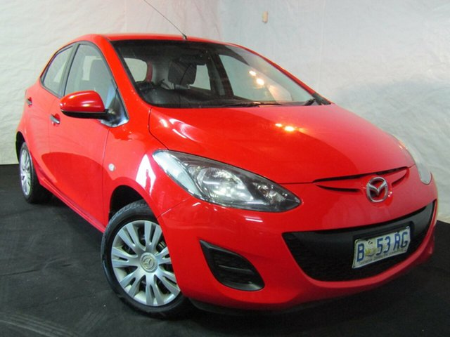 Used Mazda 2 DE10Y1 Neo, 2010 Mazda 2 DE10Y1 Neo Red 4 Speed Automatic Hatchback