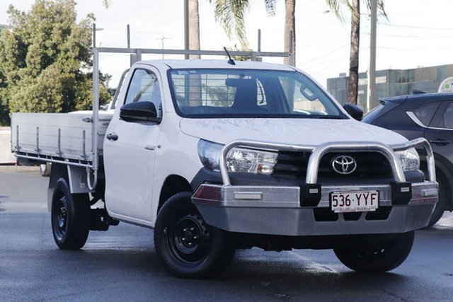 Used Toyota Hilux TGN121R Workmate 4x2, 2016 Toyota Hilux TGN121R Workmate 4x2 White 5 Speed Manual Cab Chassis