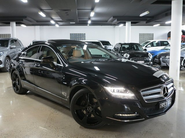 Used Mercedes-Benz CLS-Class C218 CLS350 CDI BlueEFFICIENCY Coupe 7G-Tronic, 2012 Mercedes-Benz CLS-Class C218 CLS350 CDI BlueEFFICIENCY Coupe 7G-Tronic Obsidian Black 7 Speed