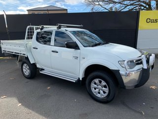 2010 Mitsubishi Triton MN MY10 GL-R Double Cab White 5 Speed Manual Utility.