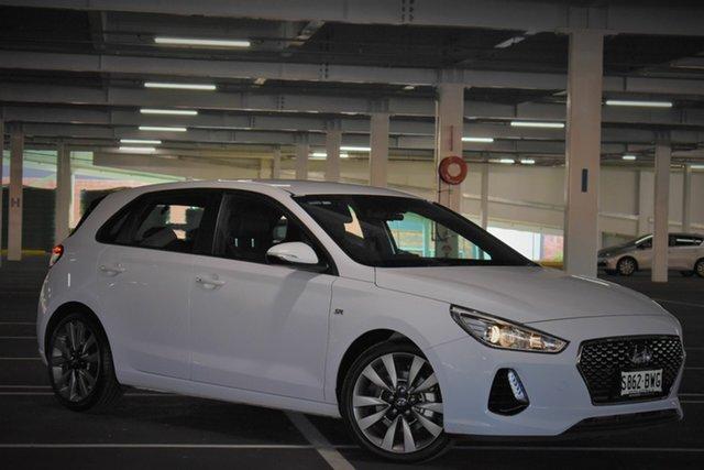 Used Hyundai i30 PD2 MY18 SR D-CT, 2018 Hyundai i30 PD2 MY18 SR D-CT White 7 Speed Sports Automatic Dual Clutch Hatchback