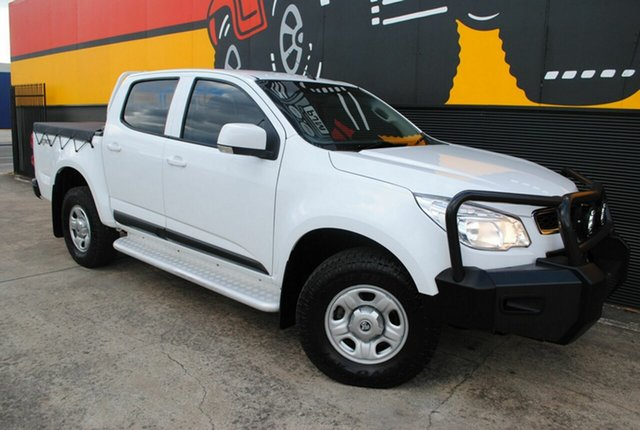 Used Holden Colorado RG MY15 LS Crew Cab, 2015 Holden Colorado RG MY15 LS Crew Cab Summit White 6 Speed Sports Automatic Utility