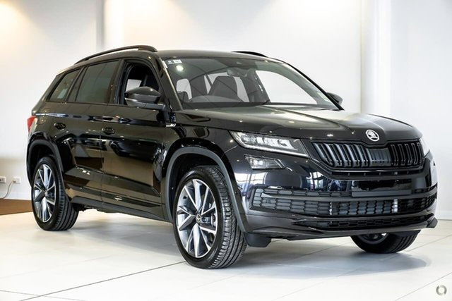 New Skoda Kodiaq NS MY19 132TSI DSG Sportline, 2019 Skoda Kodiaq NS MY19 132TSI DSG Sportline Black 7 Speed Sports Automatic Dual Clutch Wagon