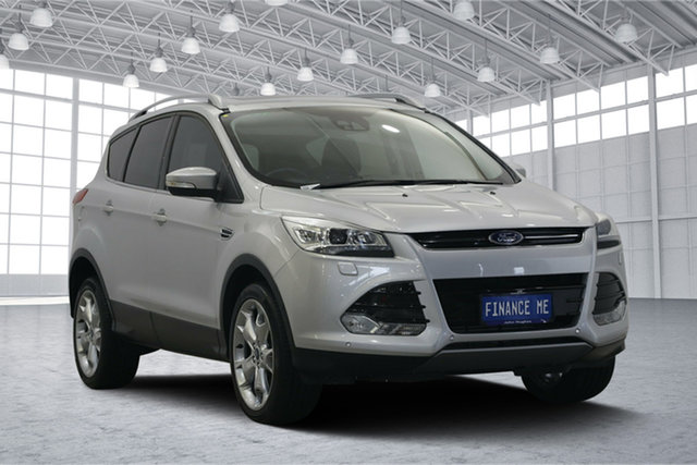 Used Ford Kuga TF MY15 Titanium AWD, 2015 Ford Kuga TF MY15 Titanium AWD Silver 6 Speed Sports Automatic Wagon