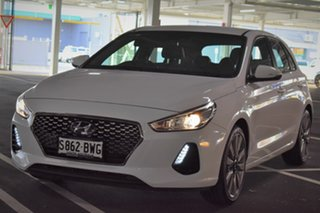 2018 Hyundai i30 PD2 MY18 SR D-CT White 7 Speed Sports Automatic Dual Clutch Hatchback