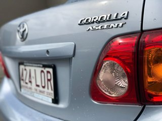 2007 Toyota Corolla ZZE122R 5Y Ascent Sport Silver 4 Speed Automatic Sedan