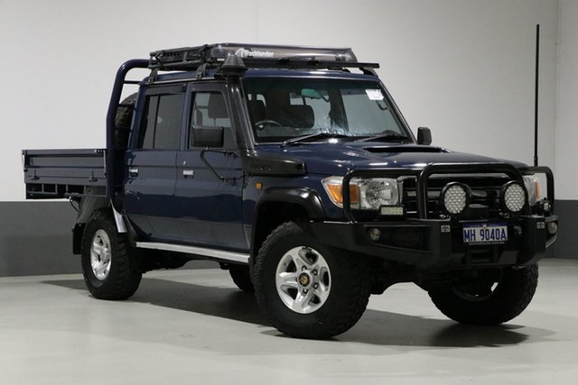 Used Toyota Landcruiser VDJ79R MY12 Update GXL (4x4), 2013 Toyota Landcruiser VDJ79R MY12 Update GXL (4x4) Blue 5 Speed Manual Double Cab Chassis