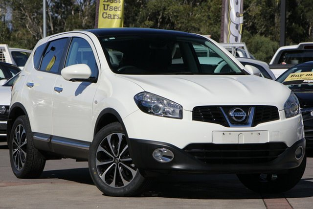 Used Nissan Dualis J10W Series 3 MY12 Ti Hatch X-tronic 2WD, 2012 Nissan Dualis J10W Series 3 MY12 Ti Hatch X-tronic 2WD White 6 Speed Constant Variable
