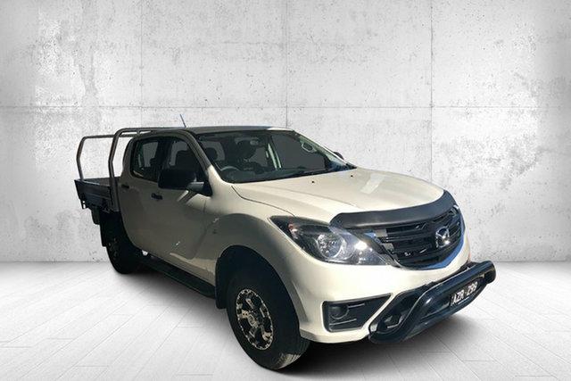 Demo Mazda BT-50 UR0YG1 XT 4x2 Hi-Rider, 2019 Mazda BT-50 UR0YG1 XT 4x2 Hi-Rider White 6 Speed Sports Automatic Cab Chassis