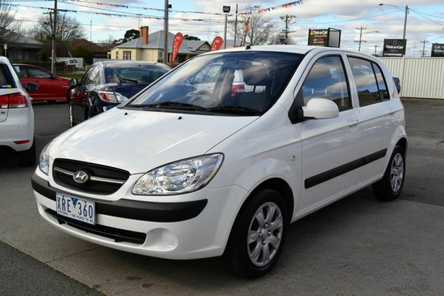 Used Hyundai Getz TB MY09 S, 2010 Hyundai Getz TB MY09 S White 4 Speed Automatic Hatchback