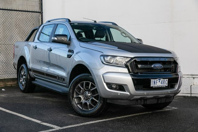 Used Ford Ranger PX MkII 2018.00MY FX4 Double Cab, 2017 Ford Ranger PX MkII 2018.00MY FX4 Double Cab Silver 6 Speed Sports Automatic Utility