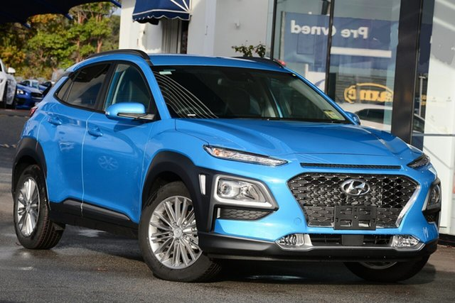 New Hyundai Kona OS.3 MY20 Elite 2WD, 2019 Hyundai Kona OS.3 MY20 Elite 2WD Ceramic Blue 6 Speed Sports Automatic Wagon