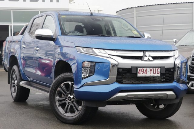 Used Mitsubishi Triton MR MY19 GLS Double Cab, 2019 Mitsubishi Triton MR MY19 GLS Double Cab Impulse Blue 6 Speed Sports Automatic Utility
