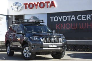 2018 Toyota Landcruiser Prado GDJ150R MY18 GXL (4x4) Graphite 6 Speed Automatic Wagon.