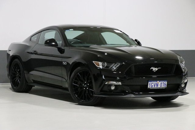 Used Ford Mustang FM MY17 Fastback GT 5.0 V8, 2017 Ford Mustang FM MY17 Fastback GT 5.0 V8 Black 6 Speed Manual Coupe