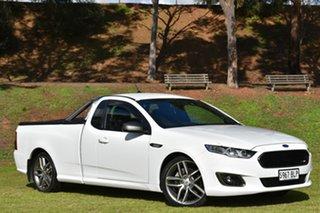 2016 Ford Falcon FG X XR6 Ute Super Cab Turbo White 6 Speed Manual Utility.