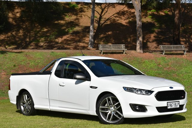 Used Ford Falcon FG X XR6 Ute Super Cab Turbo, 2016 Ford Falcon FG X XR6 Ute Super Cab Turbo White 6 Speed Manual Utility