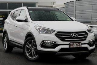 2017 Hyundai Santa Fe DM5 MY18 Highlander White Crystal 6 Speed Sports Automatic Wagon.