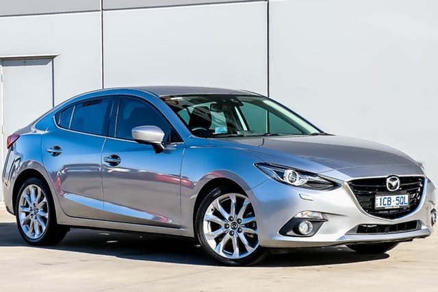 Used Mazda 3 BM5238 SP25 SKYACTIV-Drive GT, 2014 Mazda 3 BM5238 SP25 SKYACTIV-Drive GT Silver 6 Speed Sports Automatic Sedan