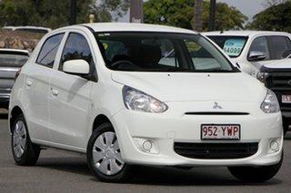 2014 Mitsubishi Mirage LA MY15 ES White 1 Speed Constant Variable Hatchback.