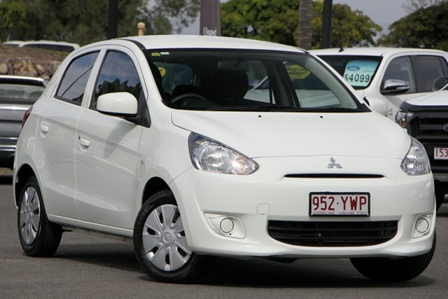 Used Mitsubishi Mirage LA MY15 ES, 2014 Mitsubishi Mirage LA MY15 ES White 1 Speed Constant Variable Hatchback