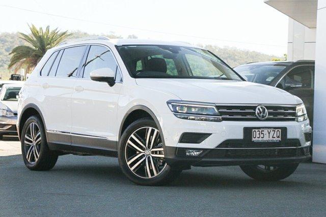 Demo Volkswagen Tiguan 5N MY19.5 162TSI DSG 4MOTION Highline, 2019 Volkswagen Tiguan 5N MY19.5 162TSI DSG 4MOTION Highline Pure White 7 Speed