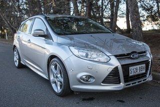 2014 Ford Focus LW MkII Titanium PwrShift Silver 6 Speed Sports Automatic Dual Clutch Hatchback.