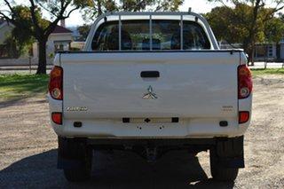 2015 Mitsubishi Triton MN MY15 GLX Double Cab White 4 Speed Sports Automatic Utility.