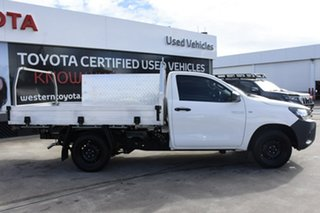 2016 Toyota Hilux TGN121R Workmate 4x2 White 5 Speed Manual Cab Chassis