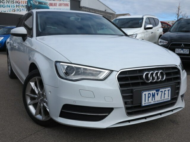 Used Audi A3 8V MY16 Attraction Sportback S Tronic, 2015 Audi A3 8V MY16 Attraction Sportback S Tronic White 7 Speed Sports Automatic Dual Clutch