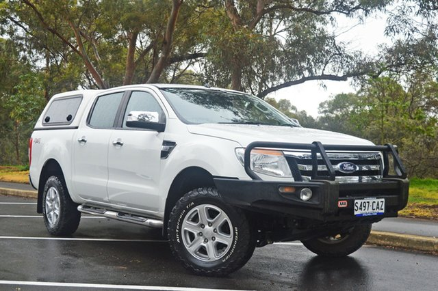 Used Ford Ranger PX XLT Double Cab, 2011 Ford Ranger PX XLT Double Cab White 6 Speed Manual Utility