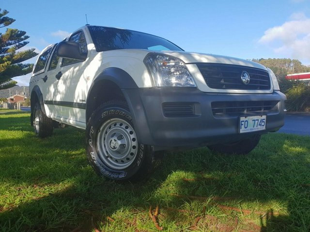 Used Holden Rodeo RA LX Crew Cab 4x2, 2004 Holden Rodeo RA LX Crew Cab 4x2 White 5 Speed Manual Utility