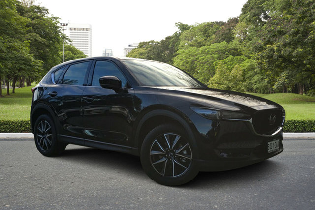 Demo Mazda CX-5 KF4WLA GT SKYACTIV-Drive i-ACTIV AWD, 2018 Mazda CX-5 KF4WLA GT SKYACTIV-Drive i-ACTIV AWD Jet Black 6 Speed Sports Automatic Wagon