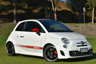 2012 Abarth 500 Series 1 Esseesse MTA C White 5 Speed Seq Manual Auto-Clutch Convertible.