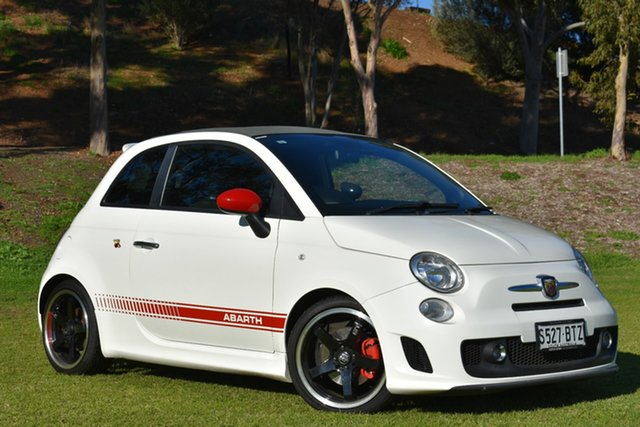Used Abarth 500 Series 1 Esseesse MTA C, 2012 Abarth 500 Series 1 Esseesse MTA C White 5 Speed Seq Manual Auto-Clutch Convertible