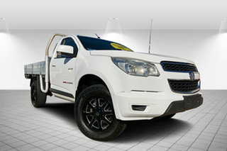 2012 Holden Colorado RG MY13 LX White 5 Speed Manual Cab Chassis.