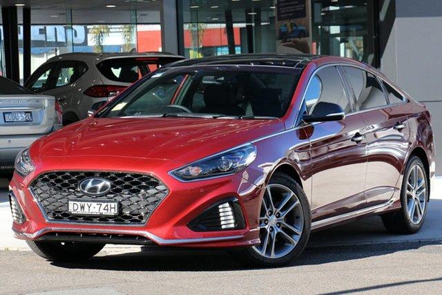 Demo Hyundai Sonata LF4 MY18 Premium, 2018 Hyundai Sonata LF4 MY18 Premium Valentine Red 8 Speed Automatic Sedan