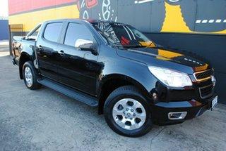 2014 Holden Colorado RG MY15 LTZ Crew Cab Metallic Black 6 Speed Manual Utility.
