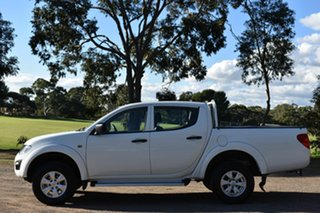 2015 Mitsubishi Triton MN MY15 GLX Double Cab White 4 Speed Sports Automatic Utility