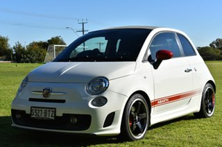 2012 Abarth 500 Series 1 Esseesse MTA C White 5 Speed Seq Manual Auto-Clutch Convertible