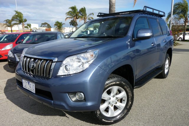 Used Toyota Landcruiser Prado KDJ150R GXL, 2011 Toyota Landcruiser Prado KDJ150R GXL Blue 5 Speed Sports Automatic Wagon