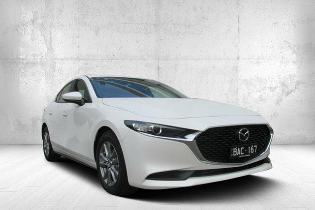 Demo Mazda 3 BP2S7A G20 SKYACTIV-Drive Pure, 2019 Mazda 3 BP2S7A G20 SKYACTIV-Drive Pure White 6 Speed Sports Automatic Sedan