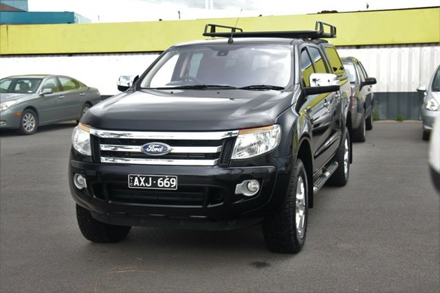 Used Ford Ranger PX XLT Double Cab, 2012 Ford Ranger PX XLT Double Cab Black 6 Speed Sports Automatic Utility
