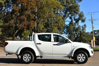 2015 Mitsubishi Triton MN MY15 GLX Double Cab 4x2 White 4 Speed Sports Automatic Utility.