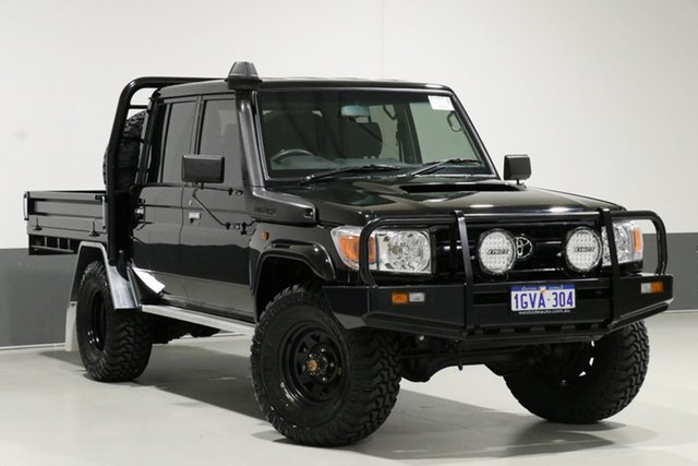 Used Toyota Landcruiser VDJ79R MY12 Update Workmate (4x4), 2015 Toyota Landcruiser VDJ79R MY12 Update Workmate (4x4) Black 5 Speed Manual Double Cab Chassis