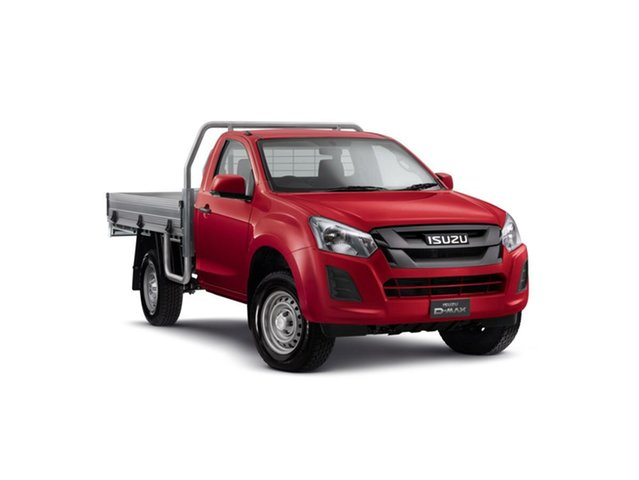 New Isuzu D-MAX MY18 SX, 2018 Isuzu D-MAX MY18 SX Magnetic Red 6 Speed Sports Automatic Cab Chassis