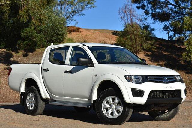 Used Mitsubishi Triton MN MY15 GLX Double Cab, 2015 Mitsubishi Triton MN MY15 GLX Double Cab White 4 Speed Sports Automatic Utility
