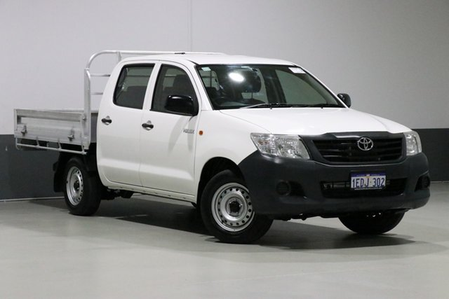 Used Toyota Hilux TGN16R MY12 Workmate, 2013 Toyota Hilux TGN16R MY12 Workmate White 5 Speed Manual Dual Cab Pick-up