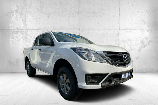 Demo Mazda BT-50 UR0YG1 XT, 2019 Mazda BT-50 UR0YG1 XT White 6 Speed Manual Utility